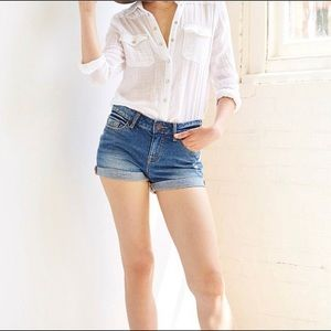 Urban Outfitters BDG 28 Shortie Jean Shorts Cuffed